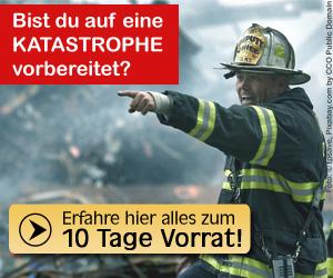 10 Tage Vorrat für den Katastrophenfall