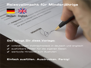 Reisevollmacht deutsch/englisch