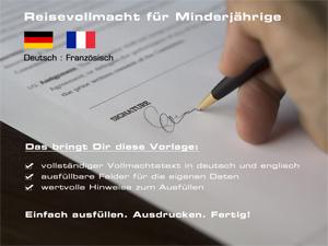 Reisevollmacht deutsch/französisch