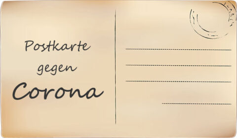 Postkarte gegen Corona | Bild: Schmidsi, pixabay.com, Pixabay License